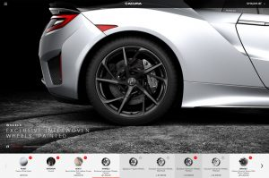 Acura NSX Touchscreen Configurator Dealership Experience by Horizon Display