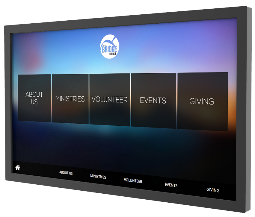 interactive touchscreen software for churches house of worship