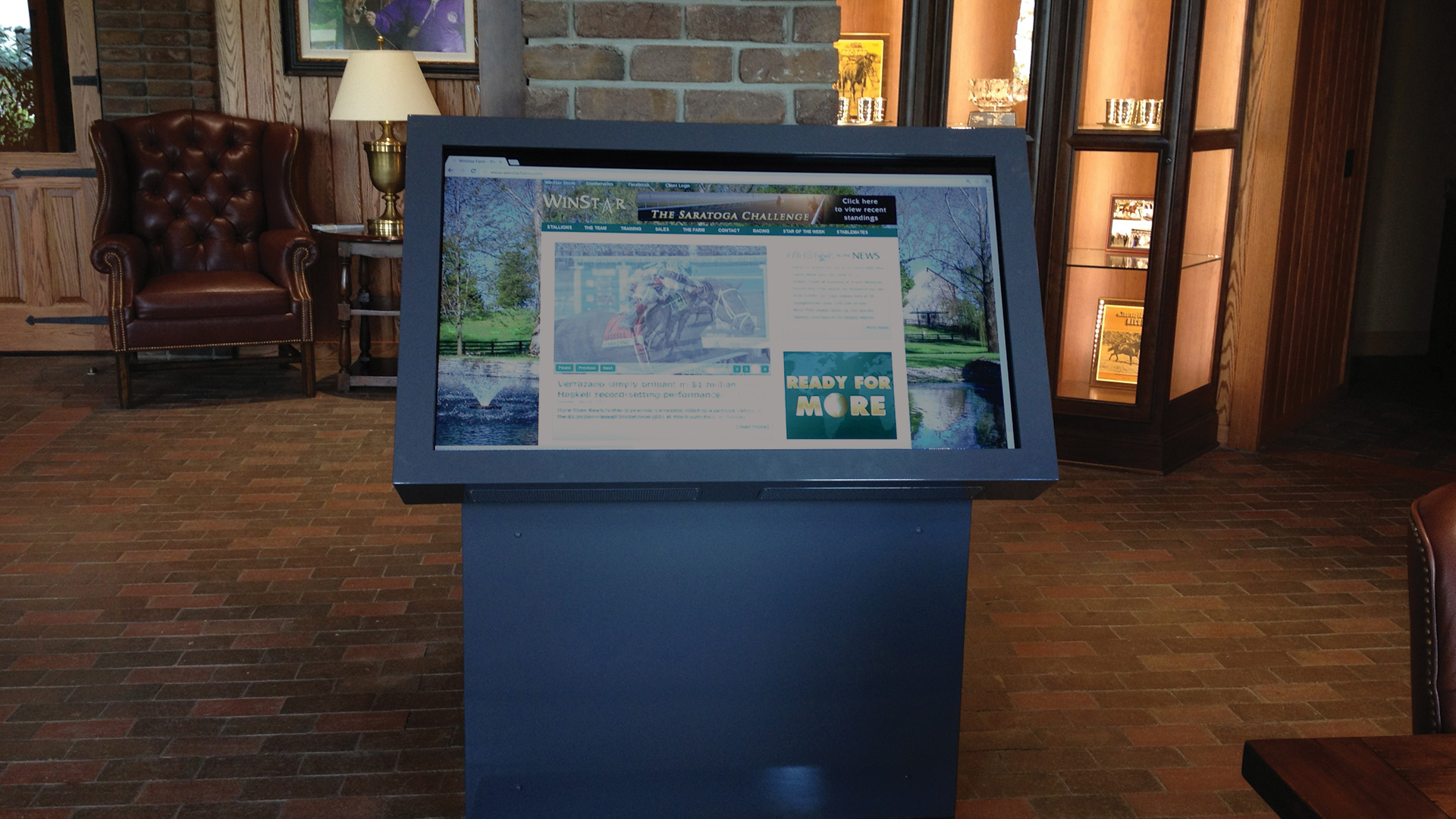 Interactive Free Standing Large Format Kiosk By Horizon Display