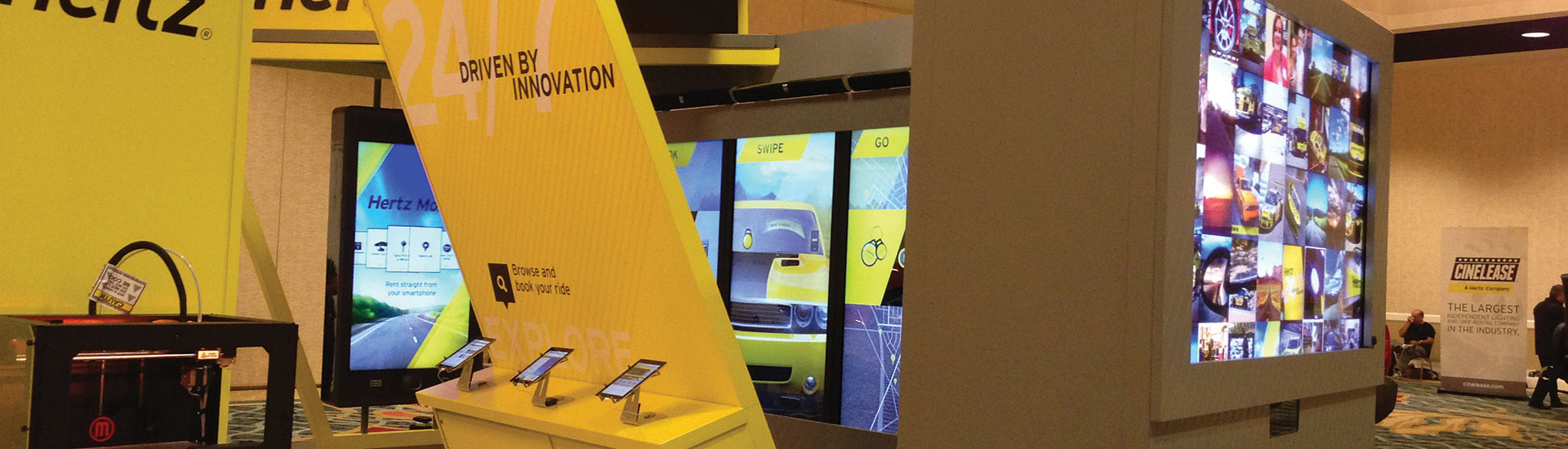 HERTZ Tradeshow & Exhibit Interactive Hardware by Horizon Display