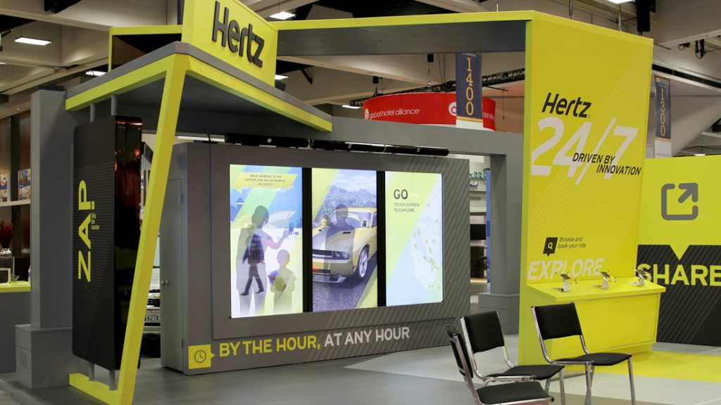 Tradeshow and Exhibit Interactive Sunlight Readable Touch Displays by Horizon Display