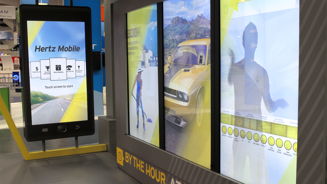 Tradeshow and Exhibit Interactive Sunlight Readable Touch Screen by Horizon Display