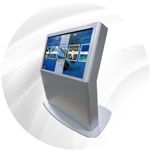 "46"" Interactive Sleek Touchscren kiosk by Horizon Display anti-tip vandal proof"