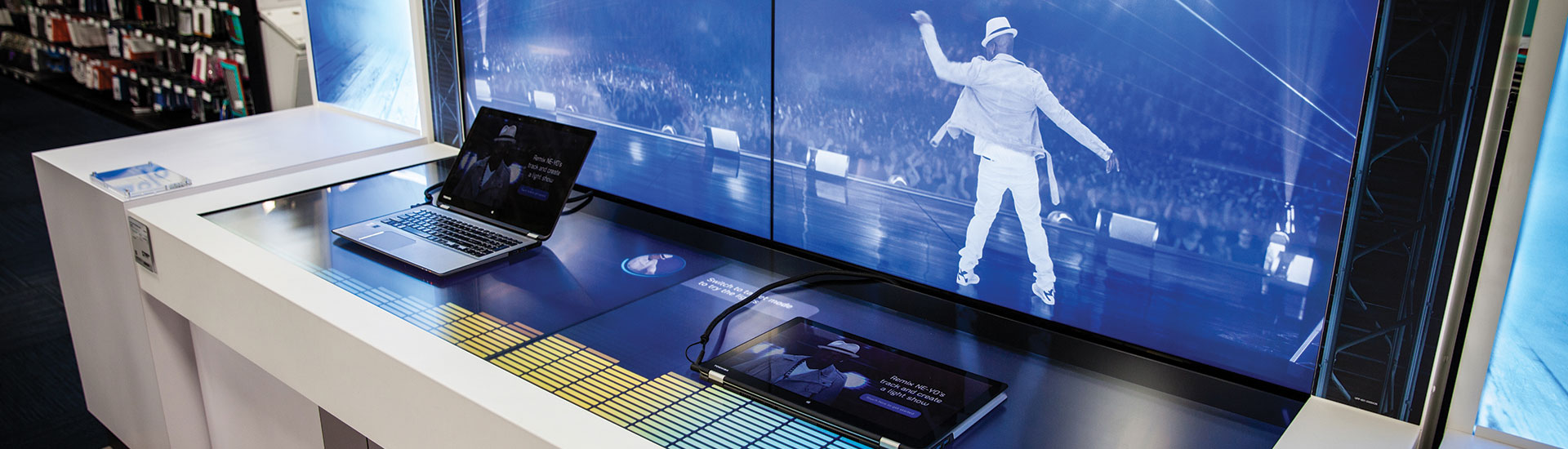 Interactive Touch Tables For Intel At Best Buy By Horizon Display