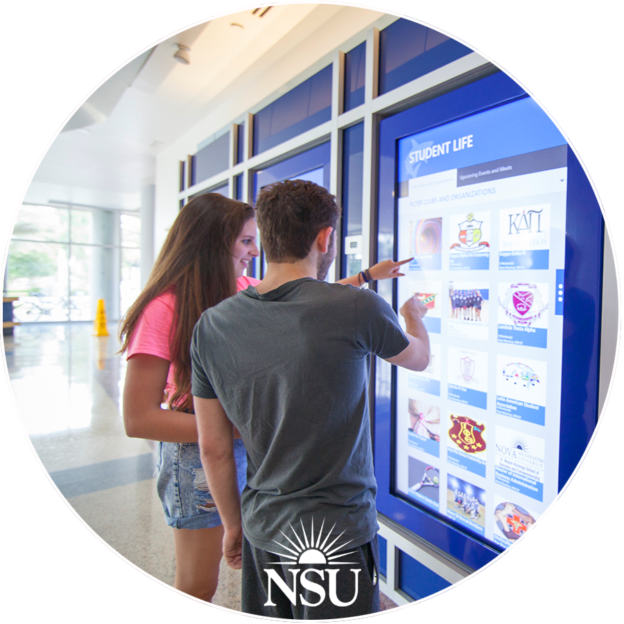 Custom Touch Software and Video Walls for HIgher Ed University by Horizon Display
