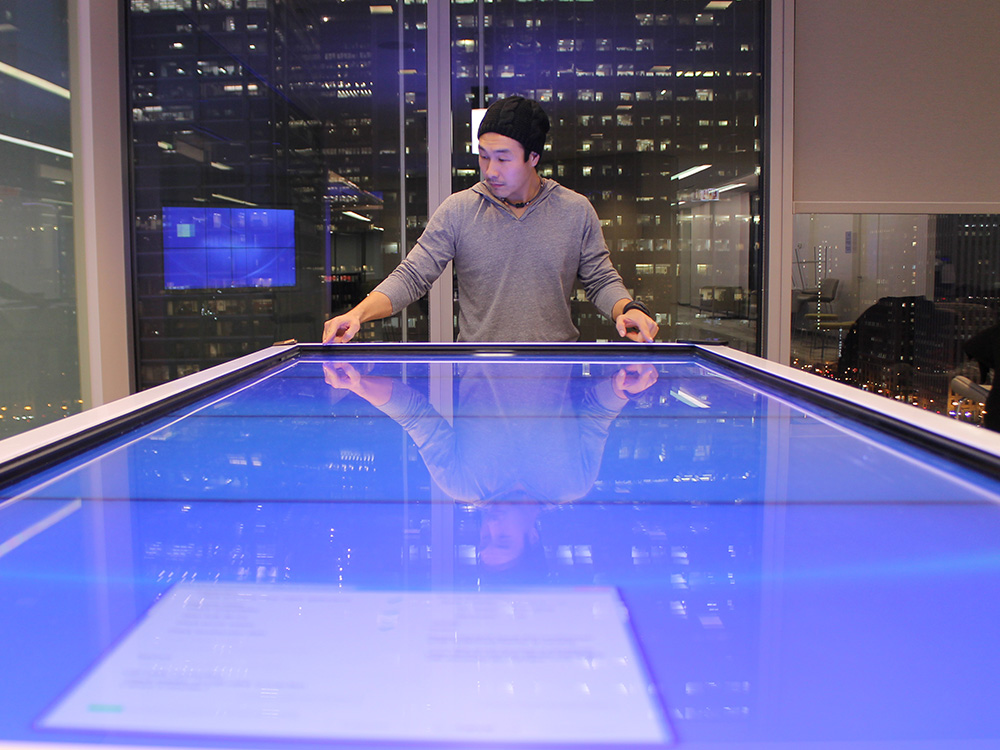 Interactive Touch Table Experience for Experience Canter by Horizon Display Medical Company