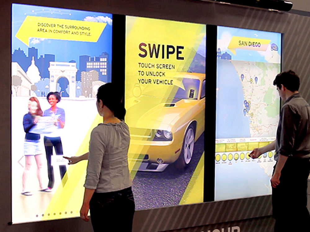 Hertz Interactive Tradeshow Pop-Up Exhibit By Horizon Display