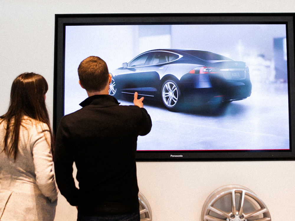 Interactive Touch Display For Tesla Customers To Build Their Own