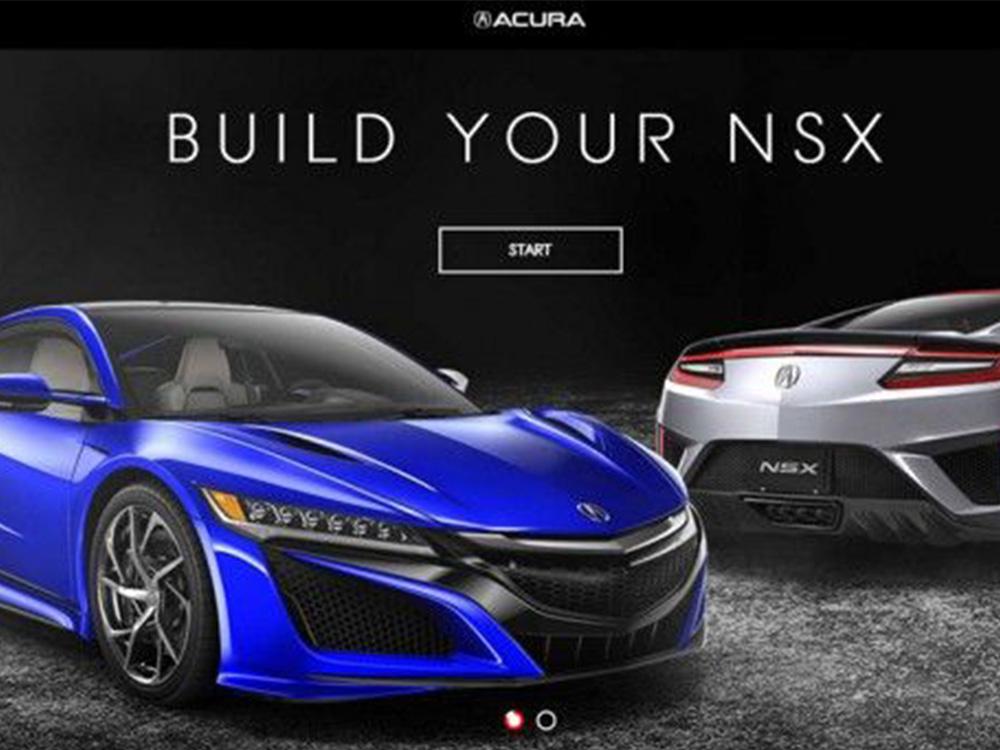 Acura Created an Interactive Experience For Customers to Build The All-New 2017 NSX