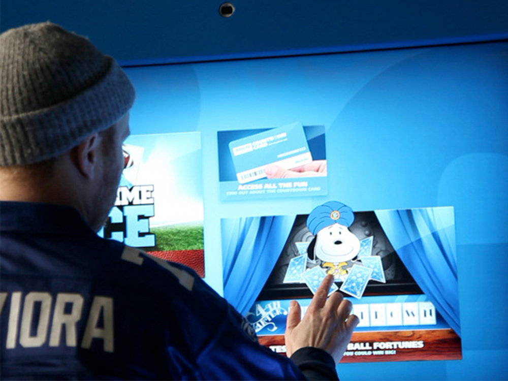 Touchscreen experience for stadium and medical company