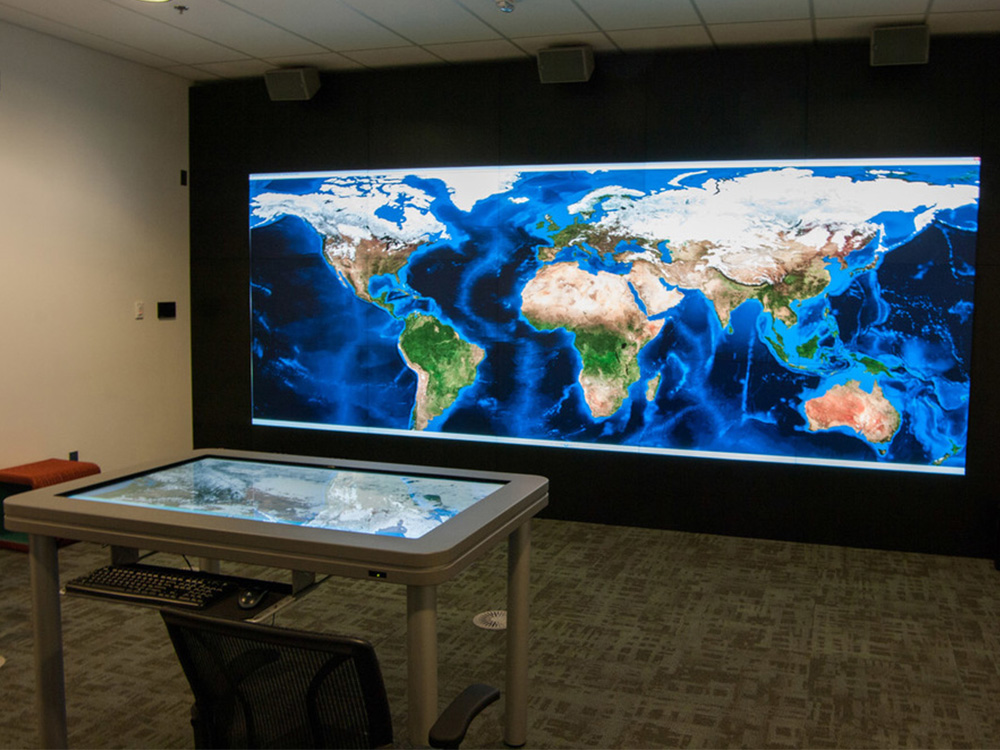 Higher Ed University Digital Library Interactive Touchscreen by Horizon Display