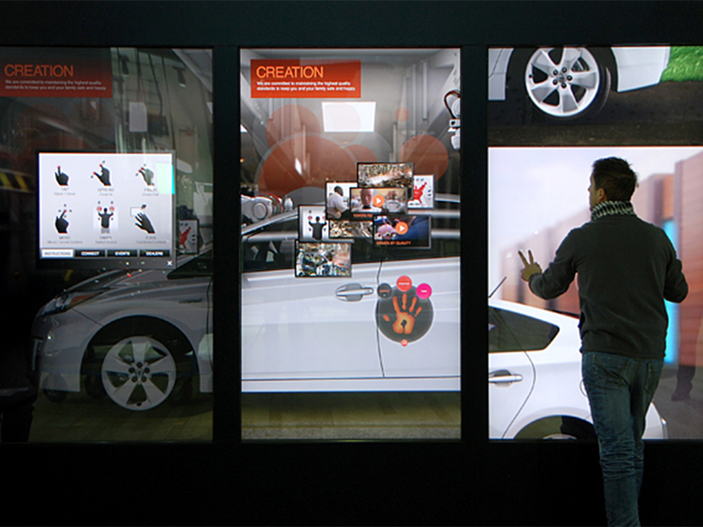 Toyota's Amazing Interactive Video Wall Exhibit