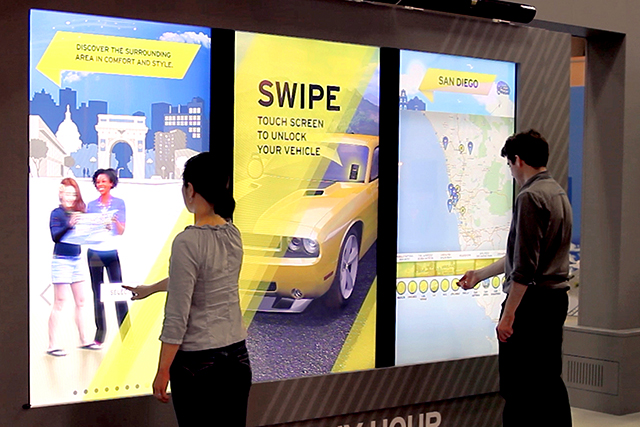 Tradeshow and Exhibit Interactive Sunlight Readable Touchscreen Video wall by Horizon Display