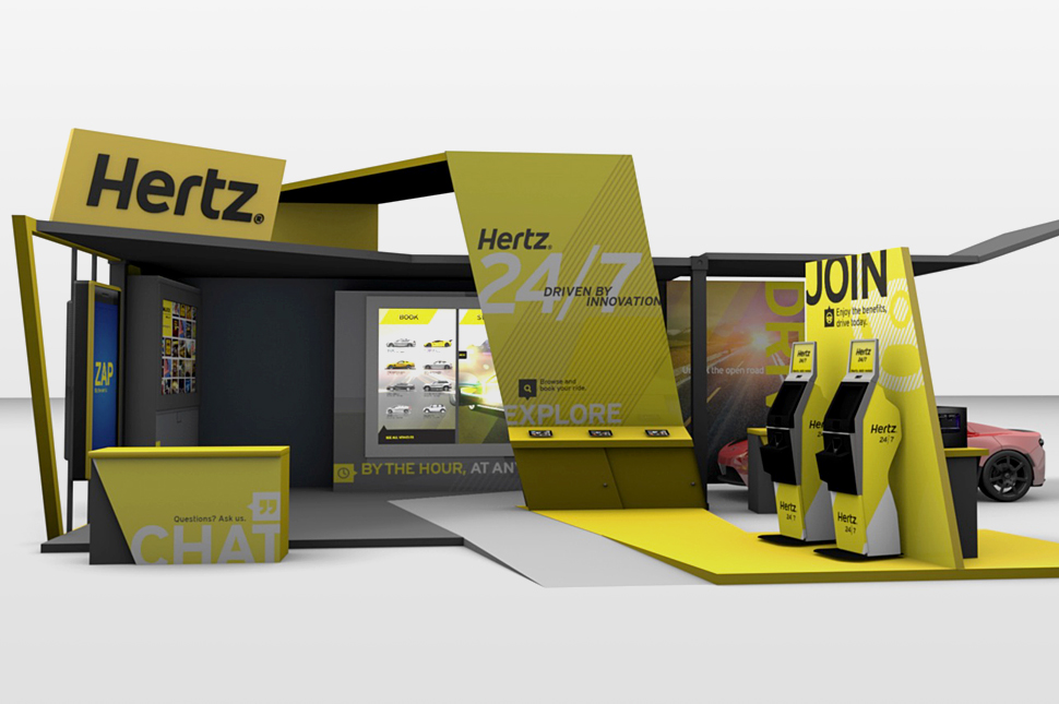 interactive exhibit for hertz case study by horizon display. Black Bedroom Furniture Sets. Home Design Ideas