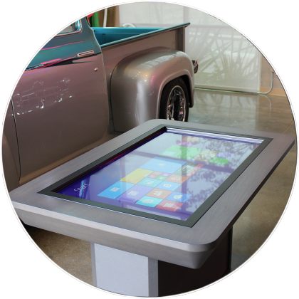 Interactive Touchscreen Table for Real Estate by Horizon Display