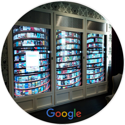 Google Interactive Experience Custom In-Wall Video Wall by Horizon Display