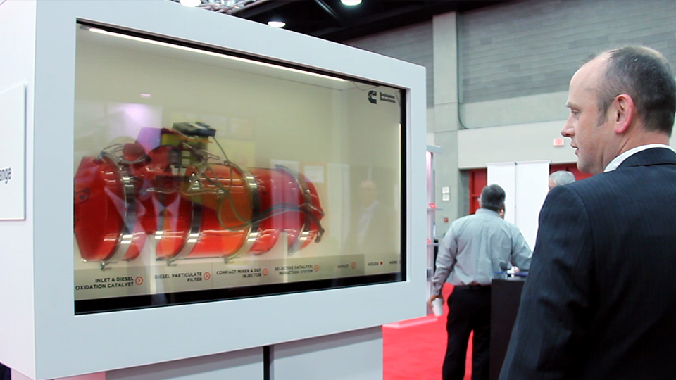 Transparent touch screen LED Tradeshow & Exhibits by Horizon Display