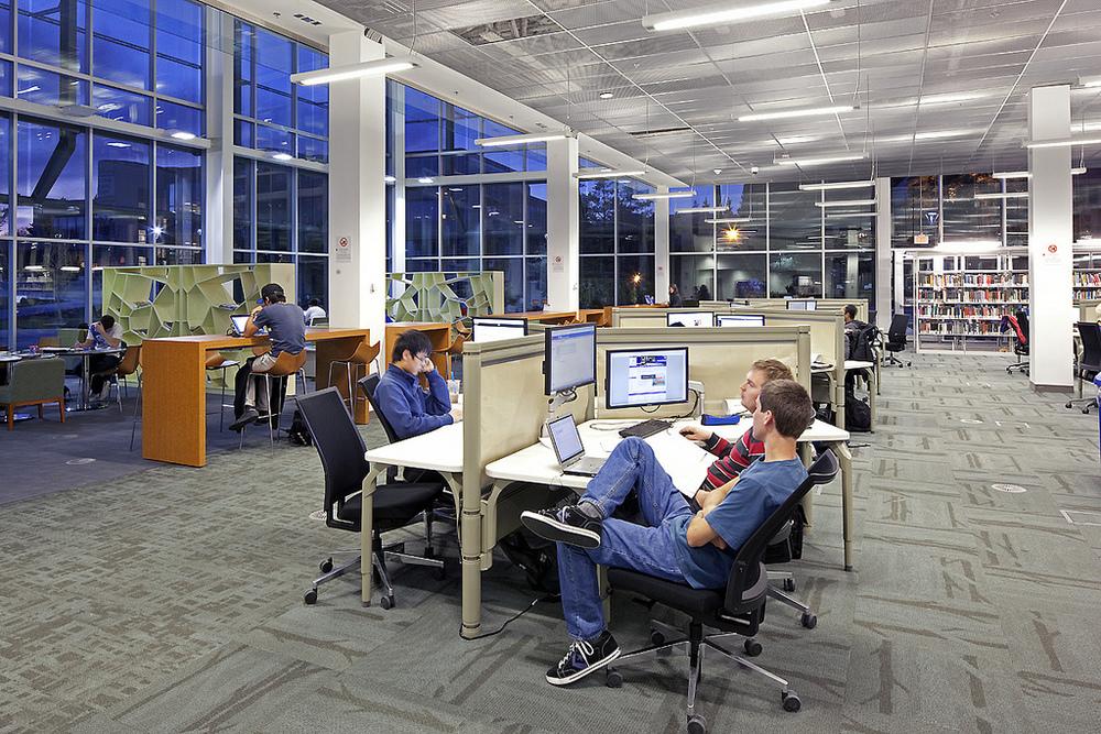 Higher Ed University High Tech Interactive Digital Library by Horizon Display