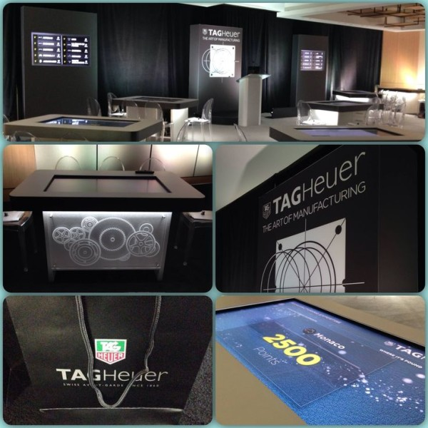 Brand Immersion Interactive Touch Table Summit by Horizon Display Tag Heuer