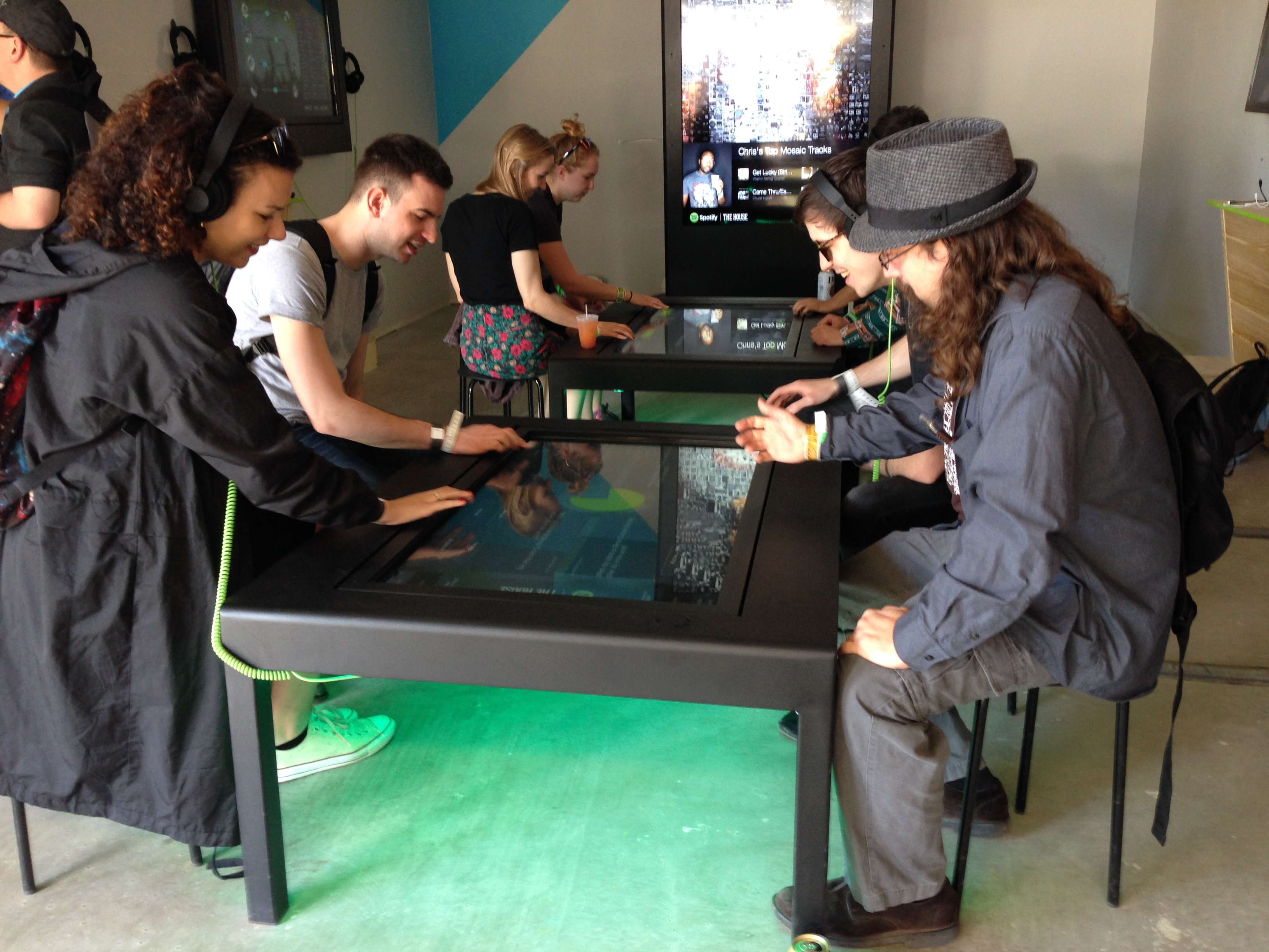 Spotify Exhibit Tradeshow Interactive Touch Table Multi-User by Horizon Display