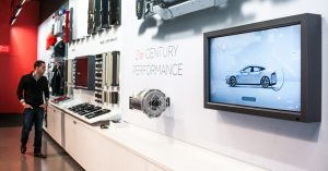 Automotive Dealership Showroom Interactive Touch Experience by Horizon Display Tesla