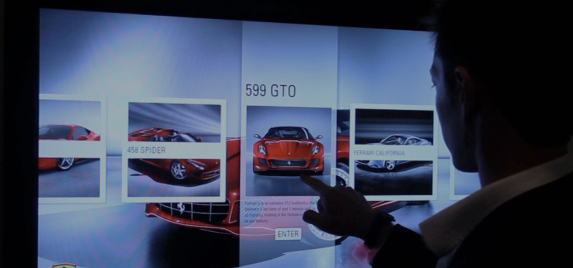 Interactive Touch Display for Ferrari by Horizon Display